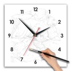 Часы-раскраска с квадратным циферблатом
