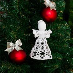 Новогоднее украшение Ажурный ангелочек