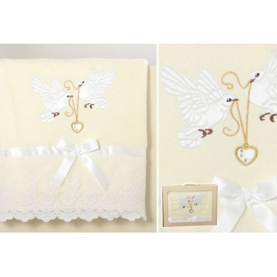 Полотенце «Любовь и голуби»
