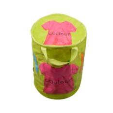 Складная корзина для цветного белья с крышкой