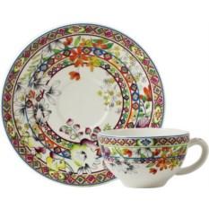 Чашка и блюдце для завтрака Gien Багатель (18 см)