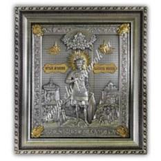 Икона размером 72х64х6,5 см Иоанн Воин