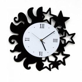 Часы настенные День и ночь черные