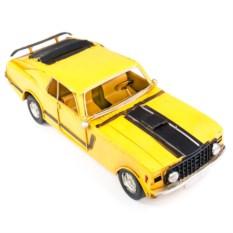 Ретро-модель Жёлтый гоночный автомобиль
