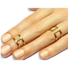 Двойные кольца на фаланги (золото, 750 проба)