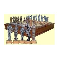 Шахматы в деревянной шкатулке Рыцари