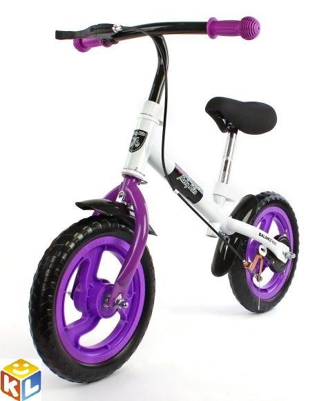 Фиолетовый беговел moby kids с ручным тормозом