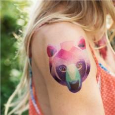 Татуировка переводная Sasha Unisex Bear