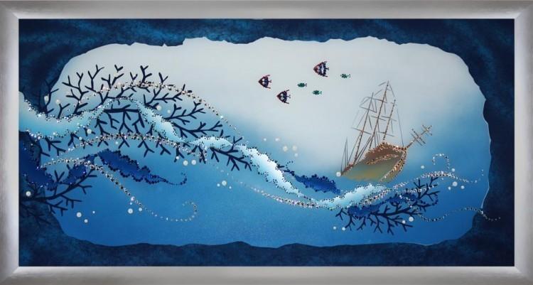 Картина Swarovski Подводный пейзаж