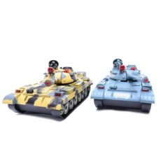 Танковый бой на радиоуправлении с большими танками Т-62