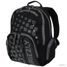 Черный рюкзак Grizzly School
