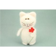 Мягкая игрушка Белый кот