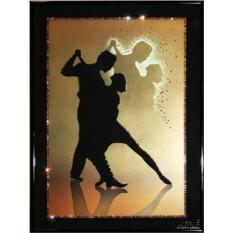 Картина с кристаллами Swarovski Танго влюбленных