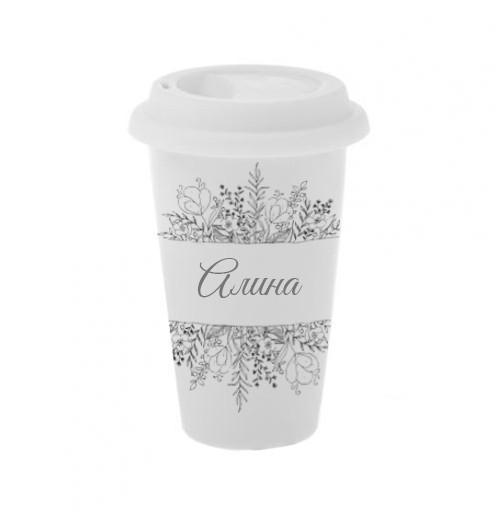 Керамический стакан для кофе Алина