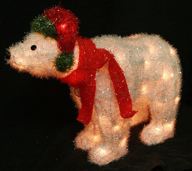 Новогодняя фигура Северный медведь с подсветкой