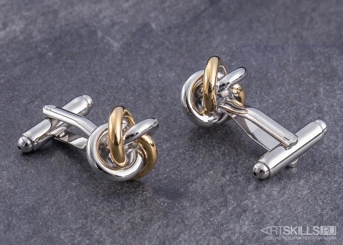 Запонки Серебро и золото