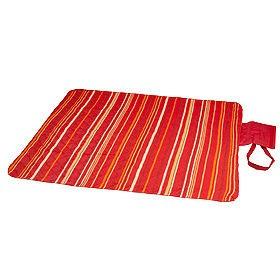 Плед для пикника, красный полосатый