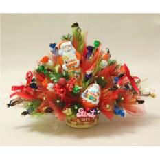 Букет из конфет Новогодний киндер-сюрприз