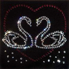 Картина из кристаллов Swarovski «Лебеди»
