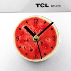 Магнитные часы на холодильник Арбуз