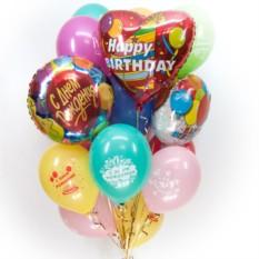 Букет шаров С Днем рождения