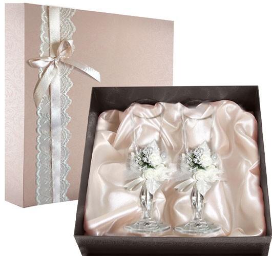 Набор свадебных бокалов Ретро №16 в подарочной коробке
