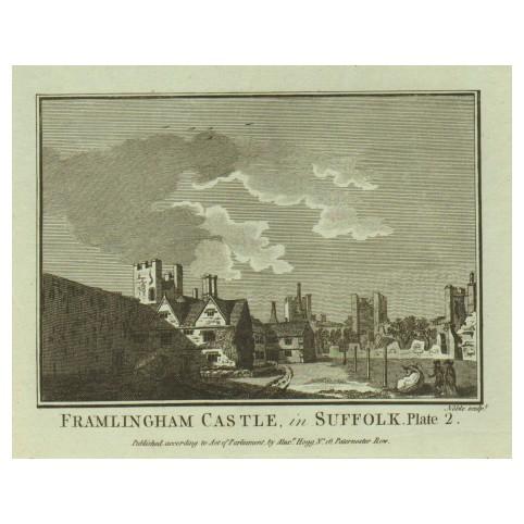 Замок Фрамлингем в графстве Саффолк, Англия