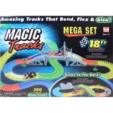 Светящаяся в темноте трасса с мостом Magic Tricks