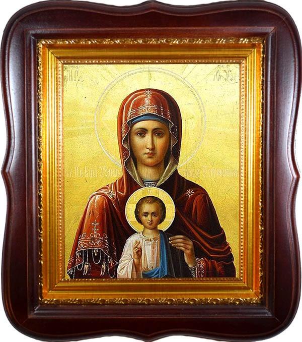 Услышательница. Икона Божьей Матери на холсте.