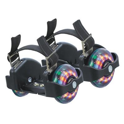 Ролики на кроссовки черные, сверкающие Flashing Roller