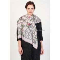 Кашемировый палантин с орнаментом и цветами Valentino
