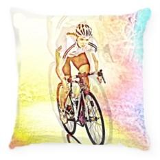 Подушка Велосипедистка