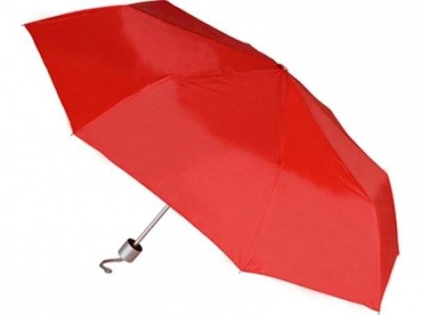 Механический красный зонт