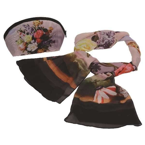 Подарочный набор Букет (косметичка и шарф)