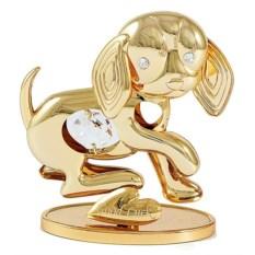 Декоративная фигурка Собачка с кристаллом