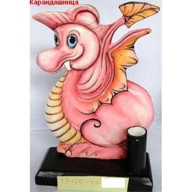 Карандашница Розовый дракон
