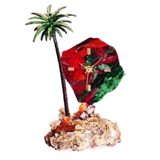 Часы Пальмовый рай из яшмы с бронзой, Art of Spain