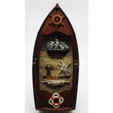 Ключница-коллаж Рыбацкая Лодка