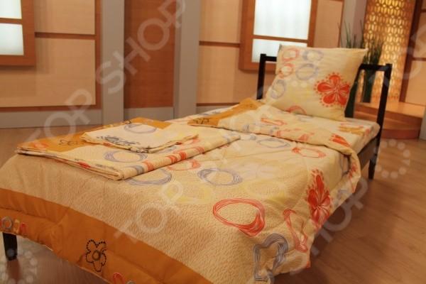 Комплект: одеяло, подушка, комплект белья Эко Бегония