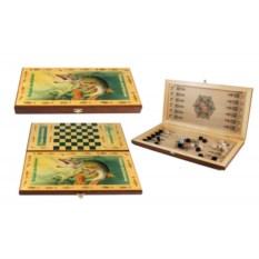 Настольная игра нарды и шашки Рыбацкие