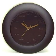 Черные настольные часы-будильник Английские