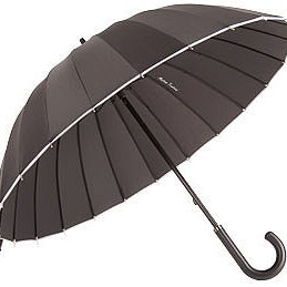 Зонт ELLA, черный с белым