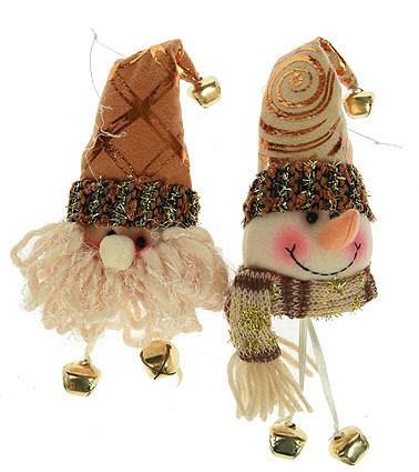 Новогодний сувенир Дед Мороз/снеговик, 17 см