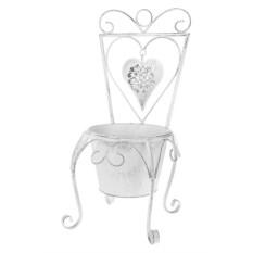 Садовое кашпо Стульчик с сердцем