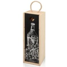 Коробка для вина с покрытием для рисования мелом