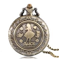 Карманные часы на цепочке Алиса в стране чудес