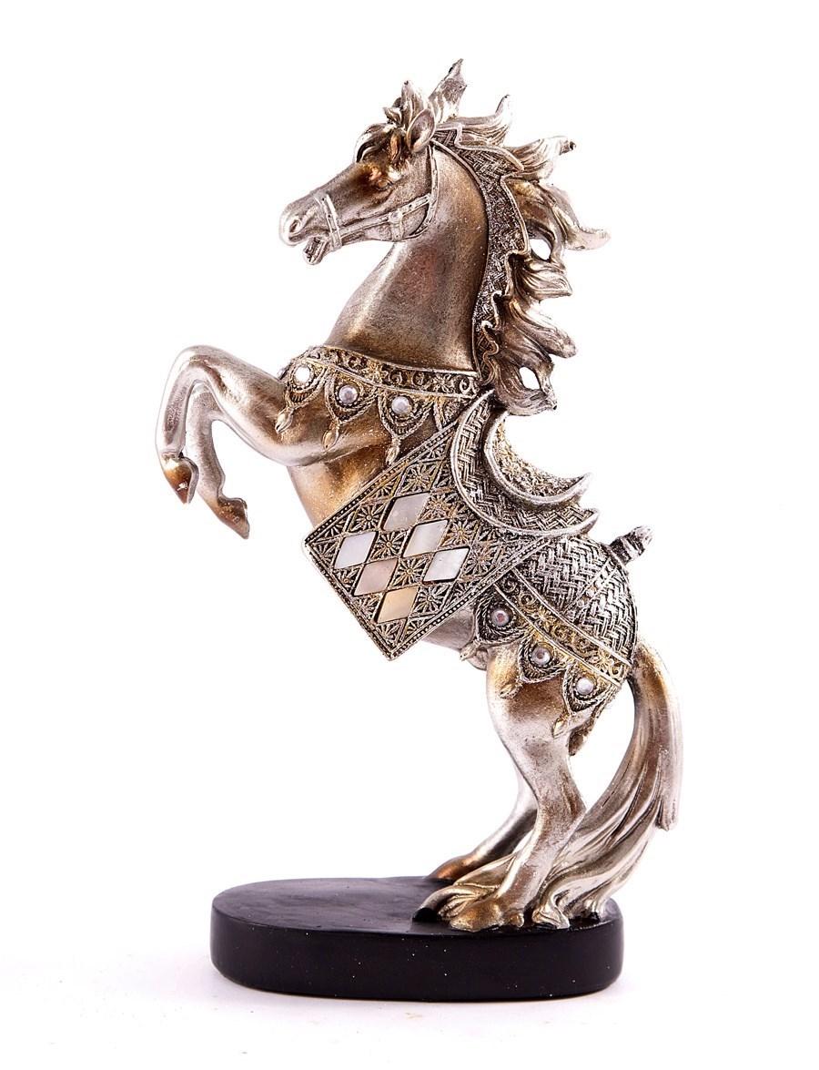 Фигурка декоративная Конь на дыбах