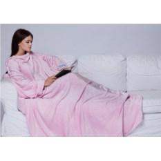 Розовый плед с рукавами Sleepy Original