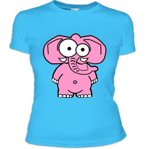 Женская футболка Розовый слон