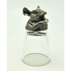 Серебристая рюмка-перевертыш Мышь